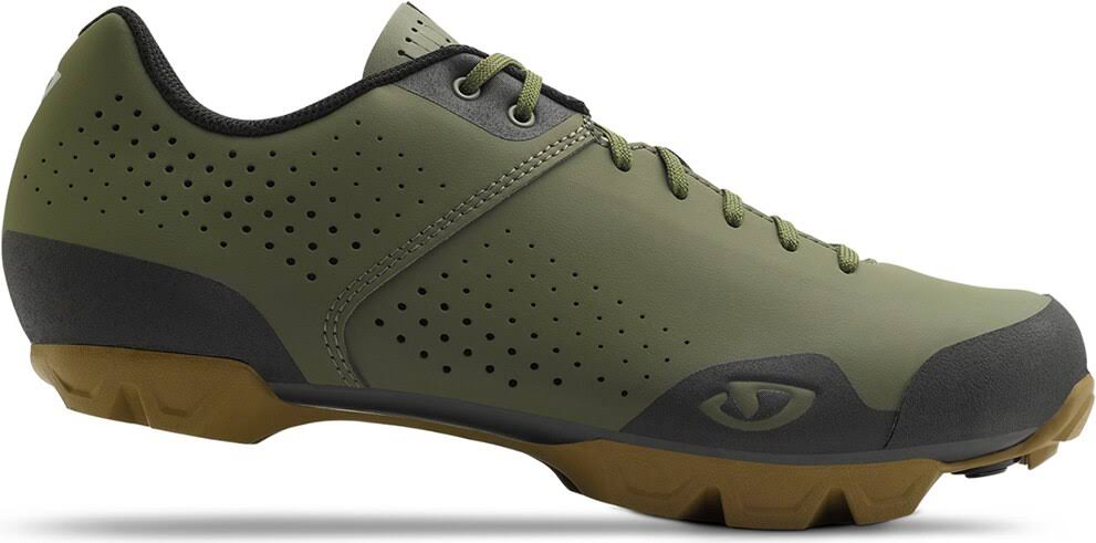 Giro Men's Privateer Lace Mountain Bike Shoe - Olive/Gum, 41 EU