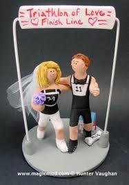 Wwe Divas Cake Decorations by Triathlon Wedding Cake Topper Marathon Runners Wedding Cake