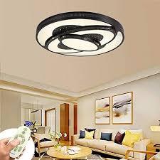led deckenleuchte 72w dimmbar schwarz deckenle wohnzimmer le modern deckenleuchten kueche badezimmer flur schlafzimmer