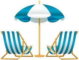 Beach Umbrella With Chairs Free PNG Clip Art Image