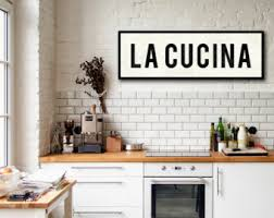 LA CUCINA SIGN Kitchen Sign Italian Decor Tuscan Wall