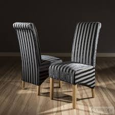 Luxury Set Of 2 High Back Fabric Dining Chairs Black V Stripe Stock ... Ding Chair Black Leather Kitchen Chairs Buy Fabric White And Room Sets Amazoncom Set Of 2 Modern Upholstered Naples Grey Vintage Pack Two Modish Synnes Black Rouse Home Ashford X Canterbury Lvet Fabric Ding Room Chairs Scroll Top High Back Reed Farmhouse Bri Metal Frame With Arms Colt Low Back Armchair O G Studio 4 Matching Satina With Stud Detail 82 Off Macys Patterned