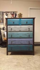 Multi Colored Distressed Dresser Rustoleum American Accents 180 Grit Sandpaper