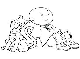 Caillou Coloring Book Printable Pdf My First Dazzling Pages Image Full Size