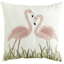 Pier 1 Outdoor Cushions Canada by Flamingos Embroidered Pillow Pier 1 Imports