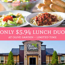 Limited Time ly $5 94 Lunch Duo Special Olive Garden Deal