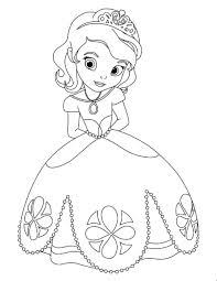 Princess Disney Coloring Pages Sofia The First Sheet Use As A Pattern To Teach