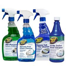 Bathtub Refinishing Kit Home Depot by Zep Bath Cleaning Kit 4 Pack Zubrkit The Home Depot