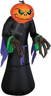Gemmy Inflatables Halloween by Amazon Com Airblown Inflatable Gemmy Lights Pumpkin Reaper 3 5