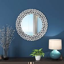 kohros großer antiker wandspiegel mit kunstvollem glasrahmen venezianisches dekor spiegel für schlafzimmer badezimmer wohnzimmer 80 cm cricle