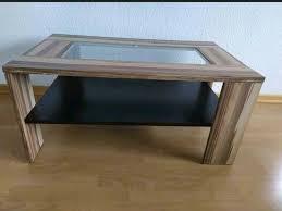 wohnzimmertisch couchtisch tisch mit glasplatte braun beige