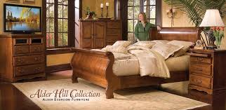 FT Sleigh Bed Queen USA Made Portland Oak Furniture