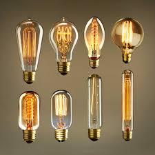 retro vintage edison e27 40w 220v incandescent light bulbs