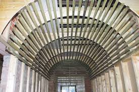 Hanging Drywall On Angled Ceiling by Barrel Vaulted Ceiling Framing Contractor Talk