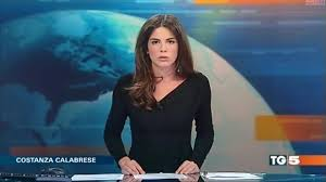 Costanza Calabrese 38 Was Delivering The Late Night News For Italian Channel TG 5