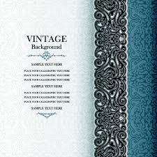 Elegant Floral Vintage Backgrounds Vector 04