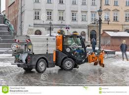100 Truck Snowblower Small Snow Blower Car Works In Krakow Poland Editorial Image