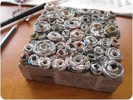 Recycled Rolled Newspaper Art