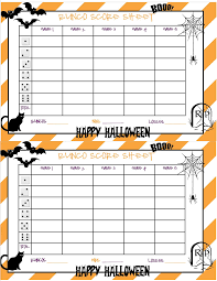 Quotes For Halloween Cards by Recipes From Stephanie Halloween Bunco Sheet Halloween