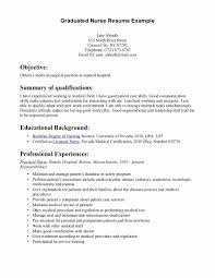 Objectives For Nurses Resume Luxury Student Nurse Rn Sample Awesome New Of