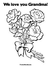 Customizable Coloring Pages For All Occasions We Love You Grandma Page