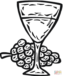 Click The Glass Of Wine Coloring Pages