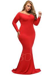 open shoulder mermaid plus size long sleeve women u0027s maxi dress