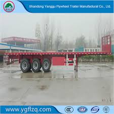 China Flywheel 3 Axles 20FT 40FT Container/Utility/Cargo Flatbed ...