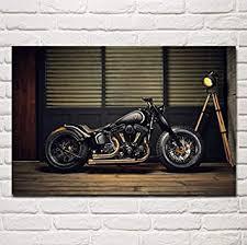 wandkunst bild poster bobber motorrad custom bike motorrad