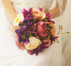 Cascading Flower Bouquets line Shopping