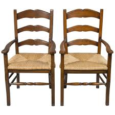New Antique Style Pair Of Solid Oak Ladder Back French Style Arm ... Antique Set Of 12 French Louis Xv Style Oak Ladder Back Kitchen Six 1940s Ding Chairs Room Chair Metal Oak Ladder Back Chairs Avaceroclub Fniture Classics Solid Wood Wayfair 10 Rush Seat White Painted Country Shabby Chic Cottage In Theodore Alexander Essential Ta Farmstead A 8 Nc152 Bernhardt Woven