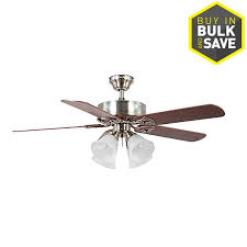 Harbor Breeze Dual Blade Ceiling Fan by Shop Harbor Breeze Springfield Ii 52 In Brushed Nickel Indoor