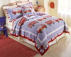 Decorating Kids Bedroom Fire Truck Bedding Twin