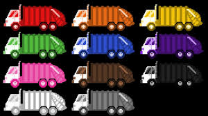 100 Truck Colors Garbage Street Vehicles The Kids Picture Show Fun