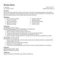 Best Tax Preparer Resume Example