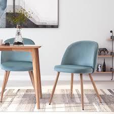 modern luxe esszimmerstühle 2 stk wohnzimmerstuhl polsterstühle samt stoff farbeauswahl türkis