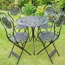 4 Seater Black Metal Round Table Patio Set Brompton Metal Garden Rectangular Set Fniture Compare 56 Bistro Black Wrought Iron Cafe Table And Chairs Pana Outdoors With 2 Pcs Cast Alinium Tulip White Vintage Patio Ding Buy Tables Chairsmetal Gardenfniture Italian Terrace Fniture Archives John Lewis Partners Ala Mesh 6seater And Bronze Home Hartman Outdoor Products Uk Our Pick Of The Best Ideal Royal River Oak 7piece Padded Sling Darwin Metal 6 Seat Garden Ding Set