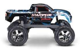 100 Blue Monster Truck Traxxas Stampede XL5 2WD 110 Brushed RTR Blue