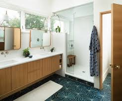 20 Imposing Mid-Century Modern Bathroom Designs You'll Fall In Love With Small Mid Century Modern Bathroom Elegant Inspired 37 Amazing Midcentury Modern Bathrooms To Soak Your Nses Design Vanity Hd Shower Doors And Paint In Remodel Floor Tile Best Of Ideas For Best Mid Century Bathroom Style Project Sewn With Metro Curtain 74 Most Magic Transform On Interior