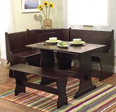 3 Pc Espresso Wooden Breakfast Nook Dining Set Corner Booth Bench ... Kitchen Corner Nook Table With Bench Booth Ding Room Set Dinettes And Breakfast Nooks Piece Coaster Brnan 5 A1 Fniture Mattress Storage Tables Amazoncom With Chair Elegant Sets Ideas Cozy Beautiful Feature Black Stained Wooden Pedestal 30 Shop Oxgr3w 3piece Breakfast Nook Table 2 Wood Ding Room Ashley Best Design And Material Small Chairs Architectural