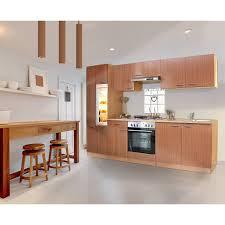 respekta küchenzeile ohne e geräte und arbeitsplatte klb270bboa 270 cm buche nb
