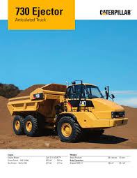 100 Articulated Truck 730 Ejector Caterpillar Equipment PDF Catalogs