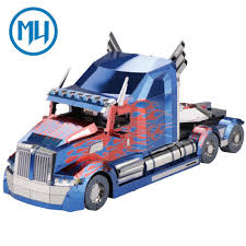 100 Optimus Prime Truck Model MU 3D Metal Puzzle Kits ToyMelee