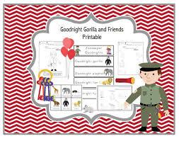 Goodnight Gorilla And Friends Printable Preschool Printables
