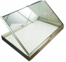 Very Large Aluminum Glass Jewelry Display Case