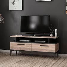 sery tv schrank modern mit tueren regalen vom wohnzimmer schwarz holz aus holz 120 x 35 x 52 cm