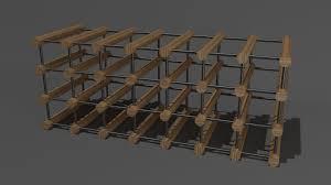 Modular Wine Rack 3D