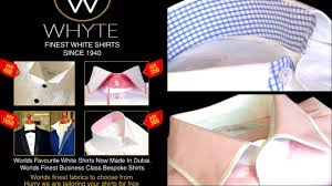 whyte bespoke shirts dubai u0027s very own luxury designer label for