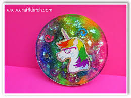Craft Klatch R Rainbow And Unicorn Coaster