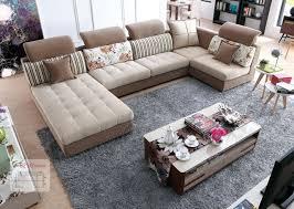 canap rustique lizz tissu modulaire salon et canapé costumes u en forme de canapé